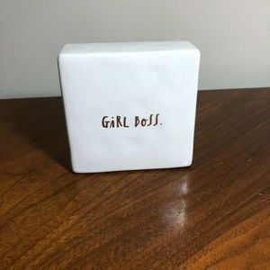 Rae Dunn GIRL BOSS Ceramic Desk Sign